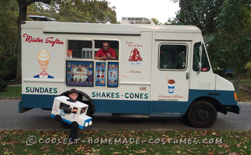 The look on the ice cream man's face was priceless when Joey stopped him wearing his costume!