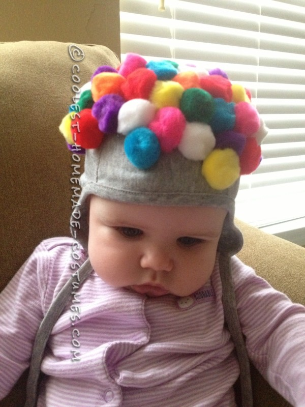 The Cutest DIY Baby Gumball Machine Costume