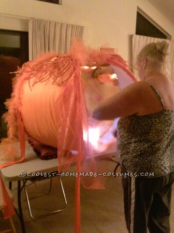 The Gigantic 5-Foot Glitzy Pumpkin Costume