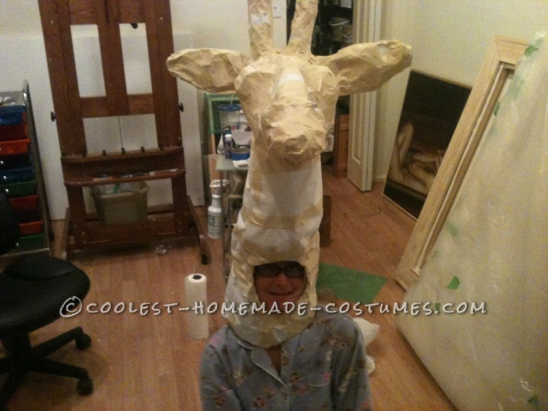 Cool Giraffe Costume on Stilts