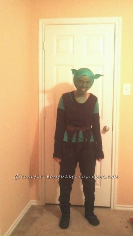 Homemade Paper Mache Green Goblin Costume