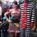 Coolest Homemade Hamburglar and Hamburger Couple Costume