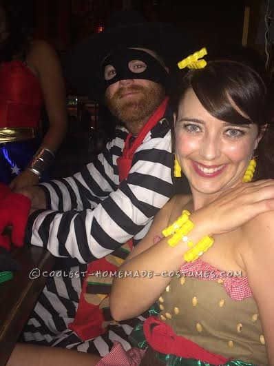 Coolest Homemade Hamburglar and Hamburger Couple Costume