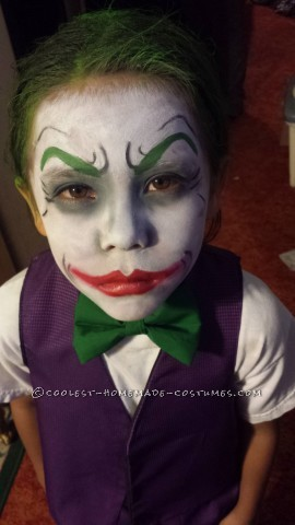 The Little Joker and Harley Quinn Homemade Costumes