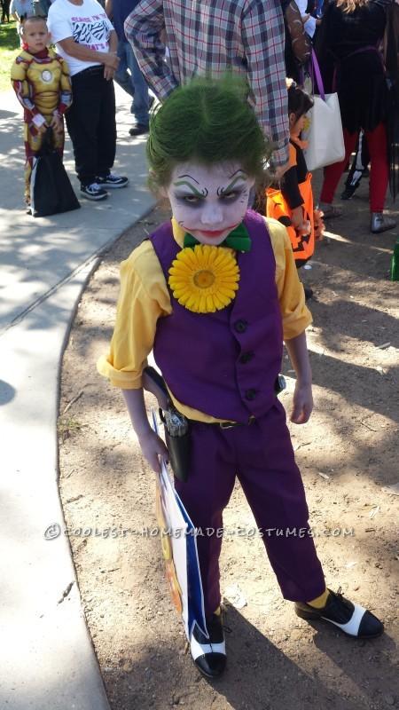 The Little Joker and Harley Quinn Homemade Costumes