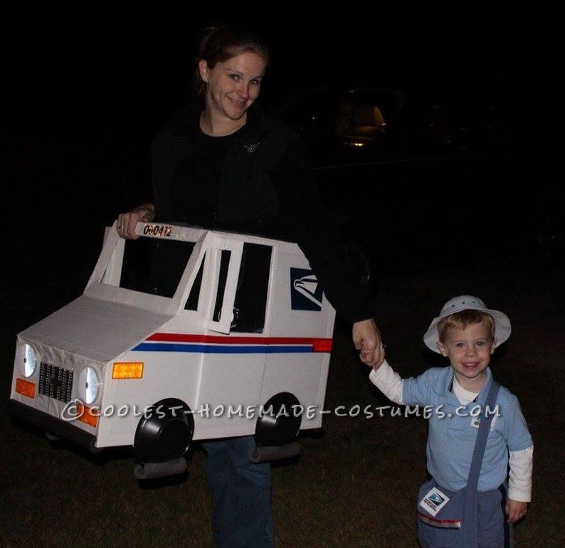 Coolest Mailman and Mail Delivery Truck Costume - 1