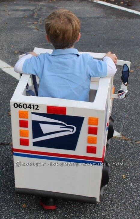 Coolest Mailman and Mail Delivery Truck Costume - 2