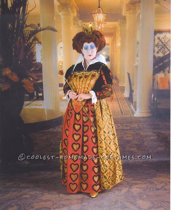Completely Homemade Queen of Hearts Costume