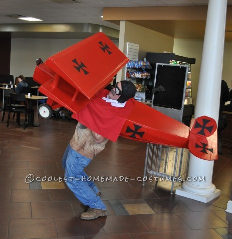 Cool Red Baron Cardboard Box Costume Idea