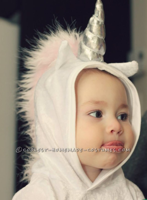Up close of baby unicorn