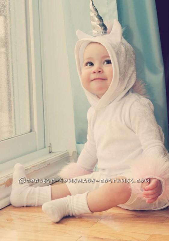 The Smallest Homemade Unicorn Baby Costume