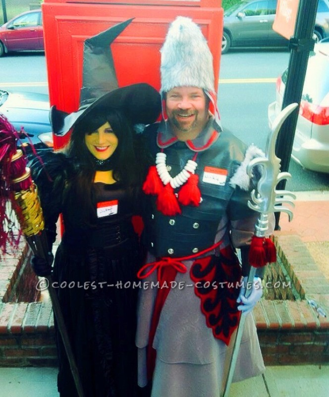 The Wicked Witch of the West and her Winkie Guard Couple Costume
