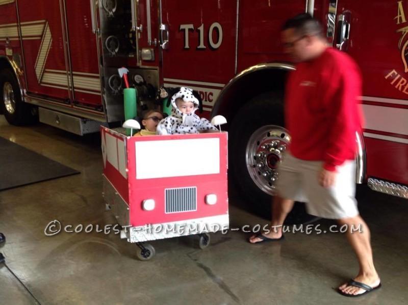 Coolest Firetruck Wheelchair Costume - 3