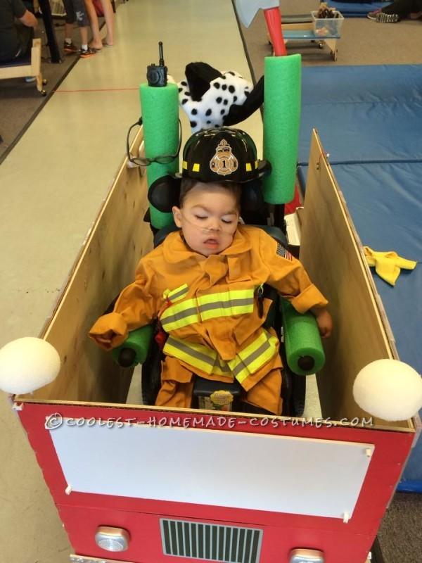 Coolest Firetruck Wheelchair Costume