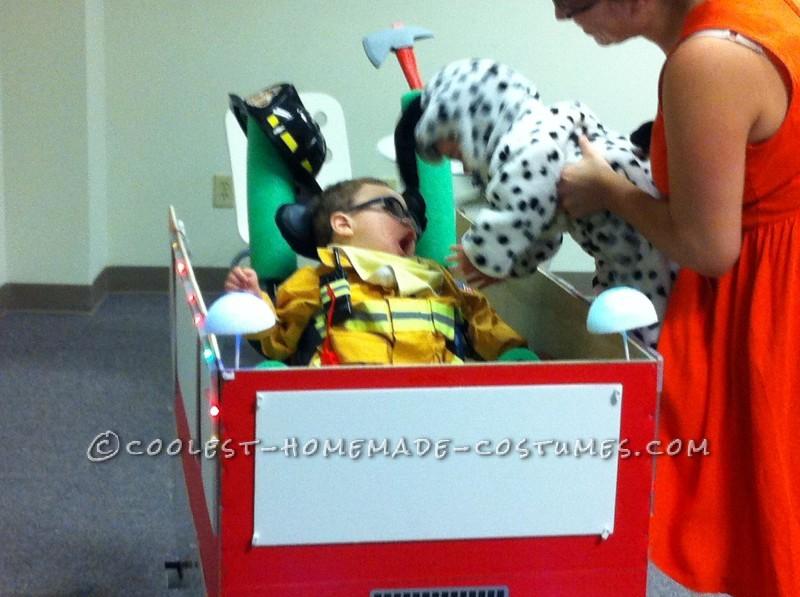 Coolest Firetruck Wheelchair Costume - 2