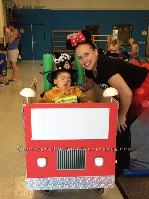 Coolest Firetruck Wheelchair Costume - 1