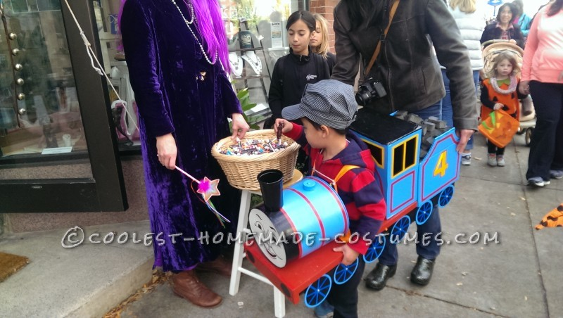 Thomas and Friends Train Child Costume - Using Recycled Household Items