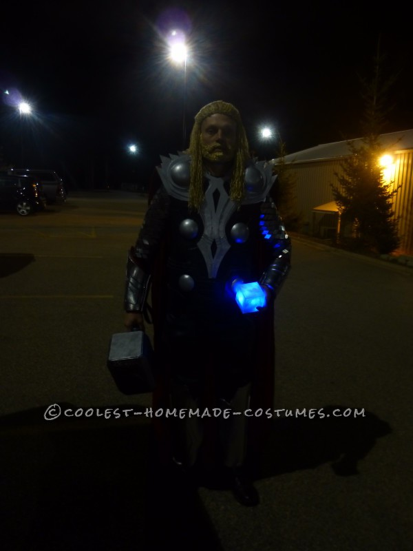 Homemade Thor Costume: He Who Wields This Hammer Commands the Lightning and the Storm