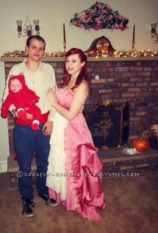 Thrift Store Little Mermaid Family Costume