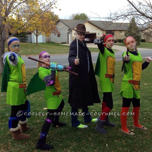 Homemade TMNT All-Girl-Group Costume