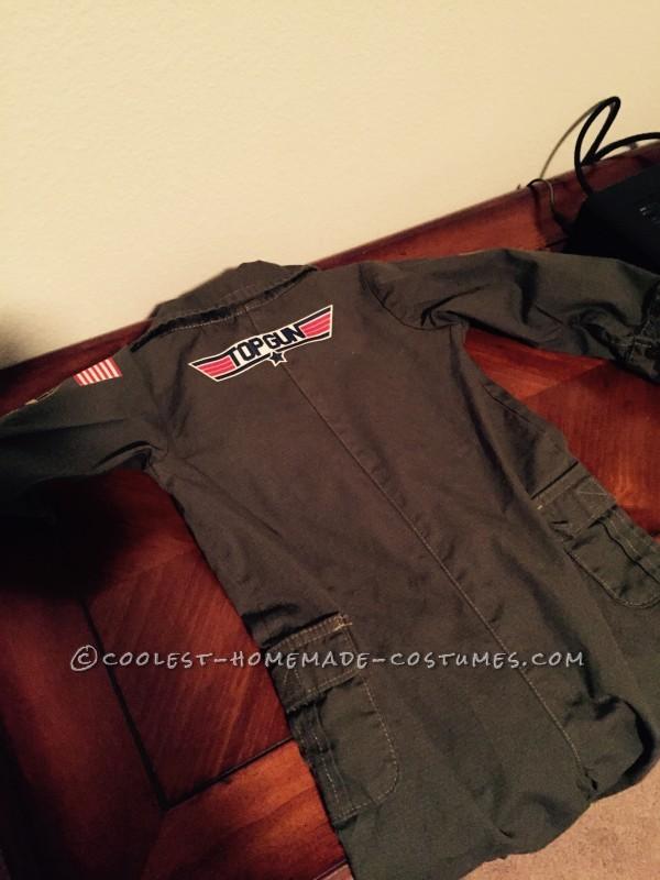 Top Gun Baby Pilot Costume with an F-14 Tomcat Jet Plane - 6
