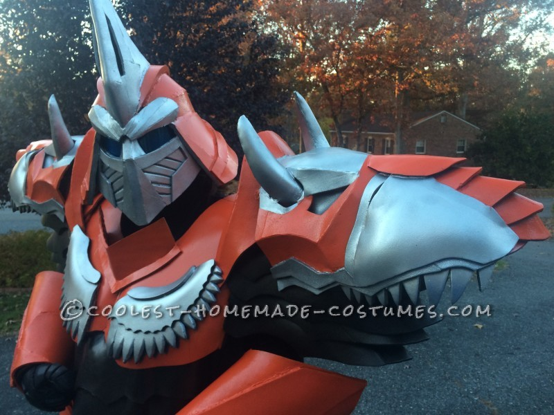 Homemade Dinobot Grimlock Costume - Transformers: Age of Extinction