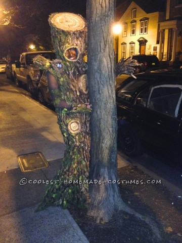 Homemade Artistic Tree Woman Costume