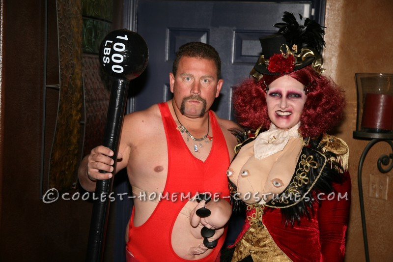 Freaky Triple Breasted Ring Mistress Costume - 1