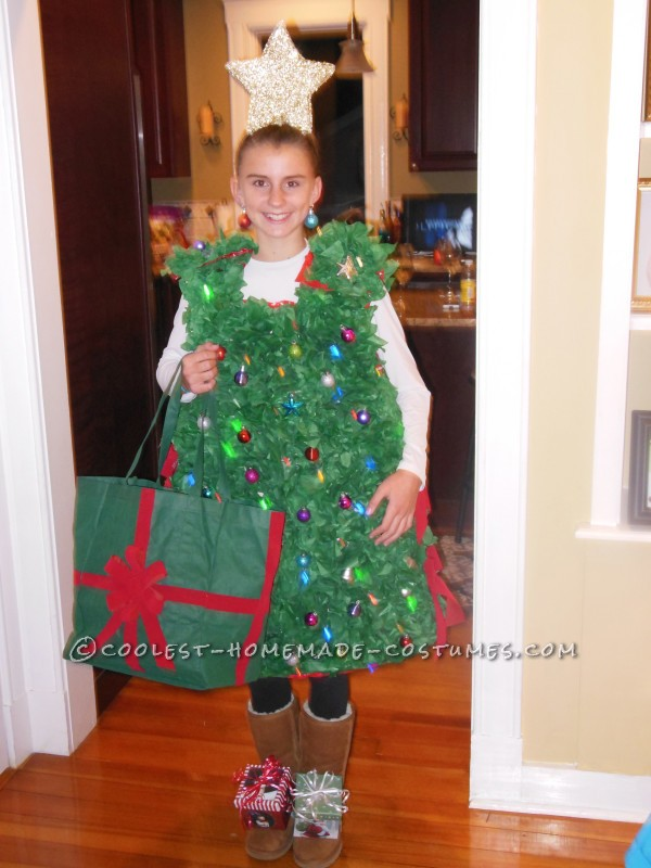 Cool Twinkling Christmas Tree Costume