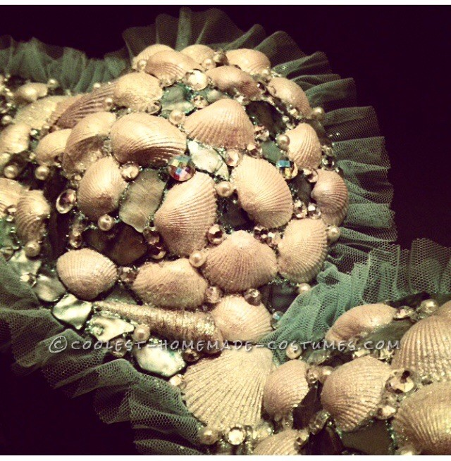 Close up of the bra I constructed by hand