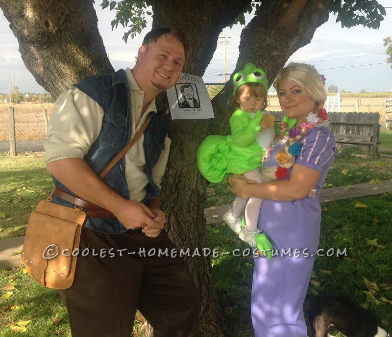 Fun Rapunzel, Pasquel and Flynn Ryder Family Costume