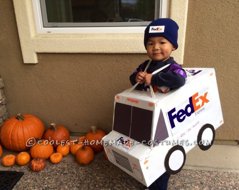 UPS, FedEx and USPS Family Costume - Working Together for On-Time Delivery!