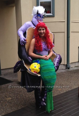 Amazing Ursula and Ariel Little Mermaid Illusion Costume