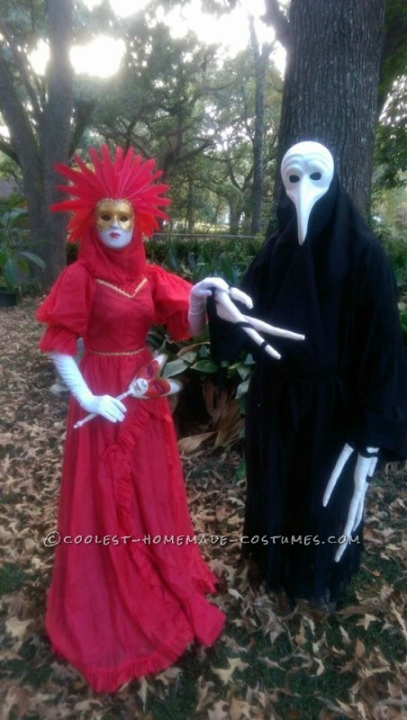 the bird masked creature and his lady