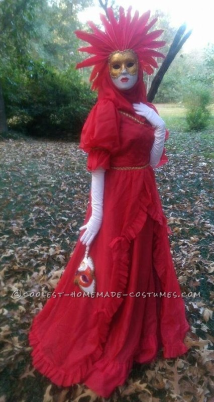 full body image of the red lady