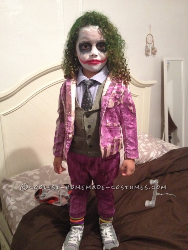 Creative and Unique Homemade Joker Costume for a Toddler