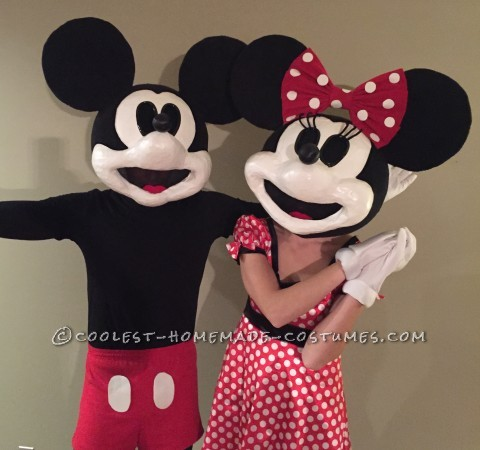 Vintage Mickey and Minnie Mouse Costume