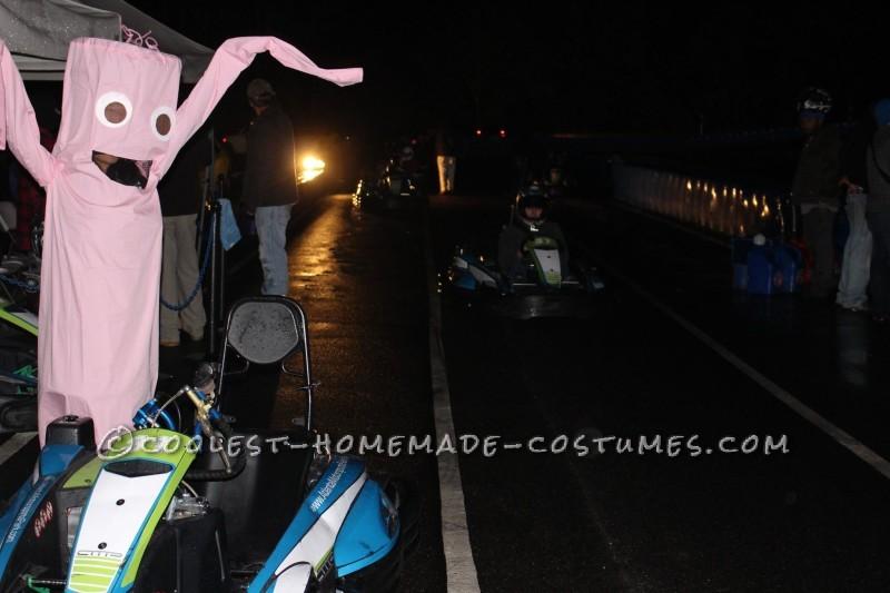 Wacky Wavy Inflatable Tube Man/Woman Costume - 1