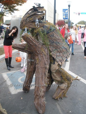 Cool Walking Tree Costume on Stilts