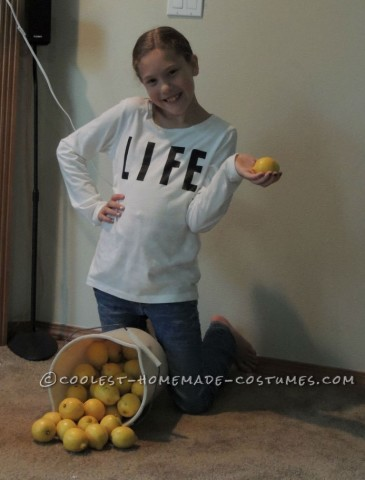 When Life Hands You Lemons Homemade Costume