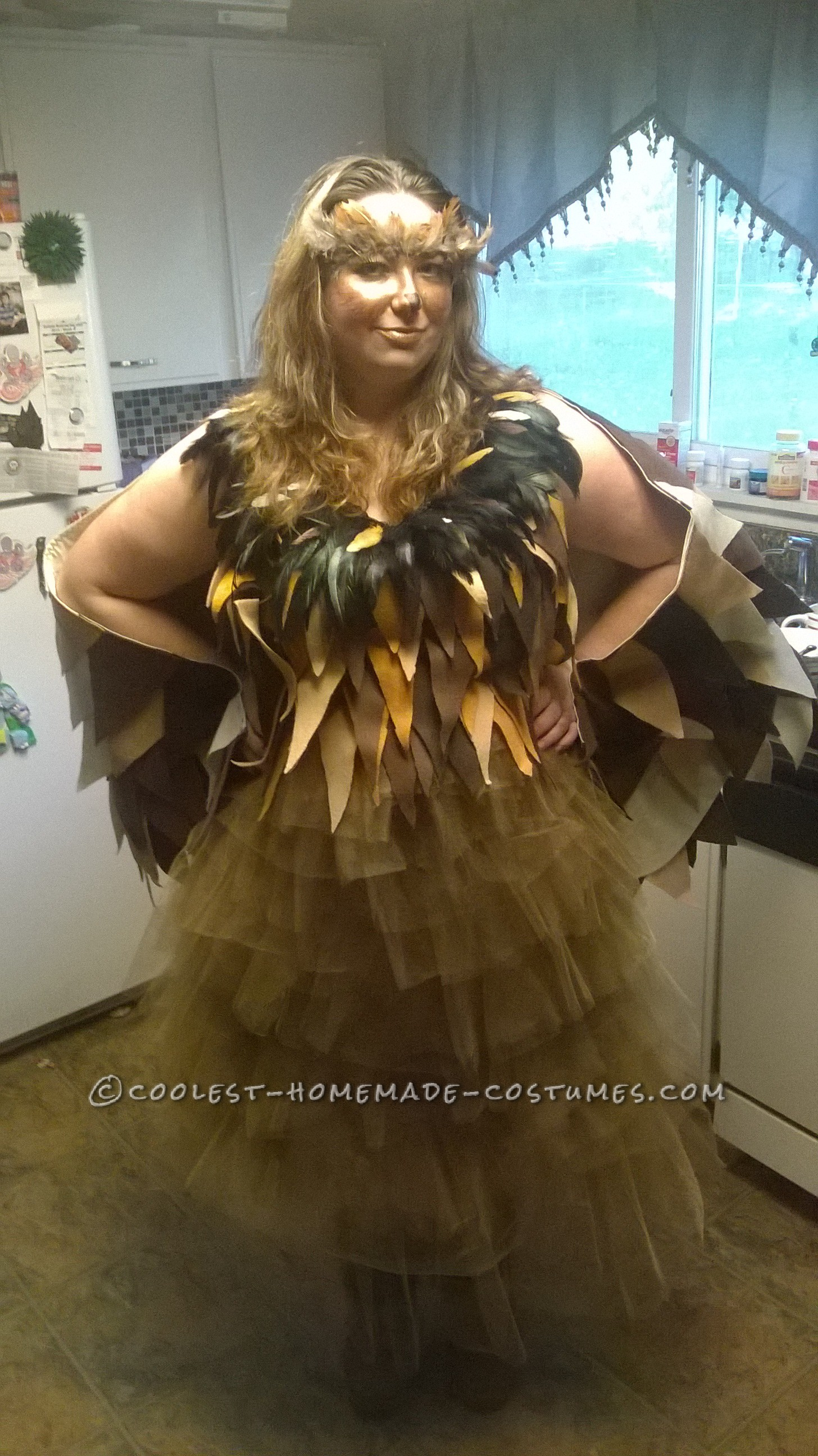 Homemade Whimiscal Owl Costume for a Woman