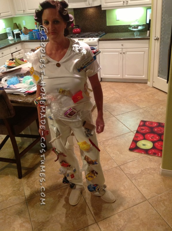 Homemade White Trash Wordplay Costume