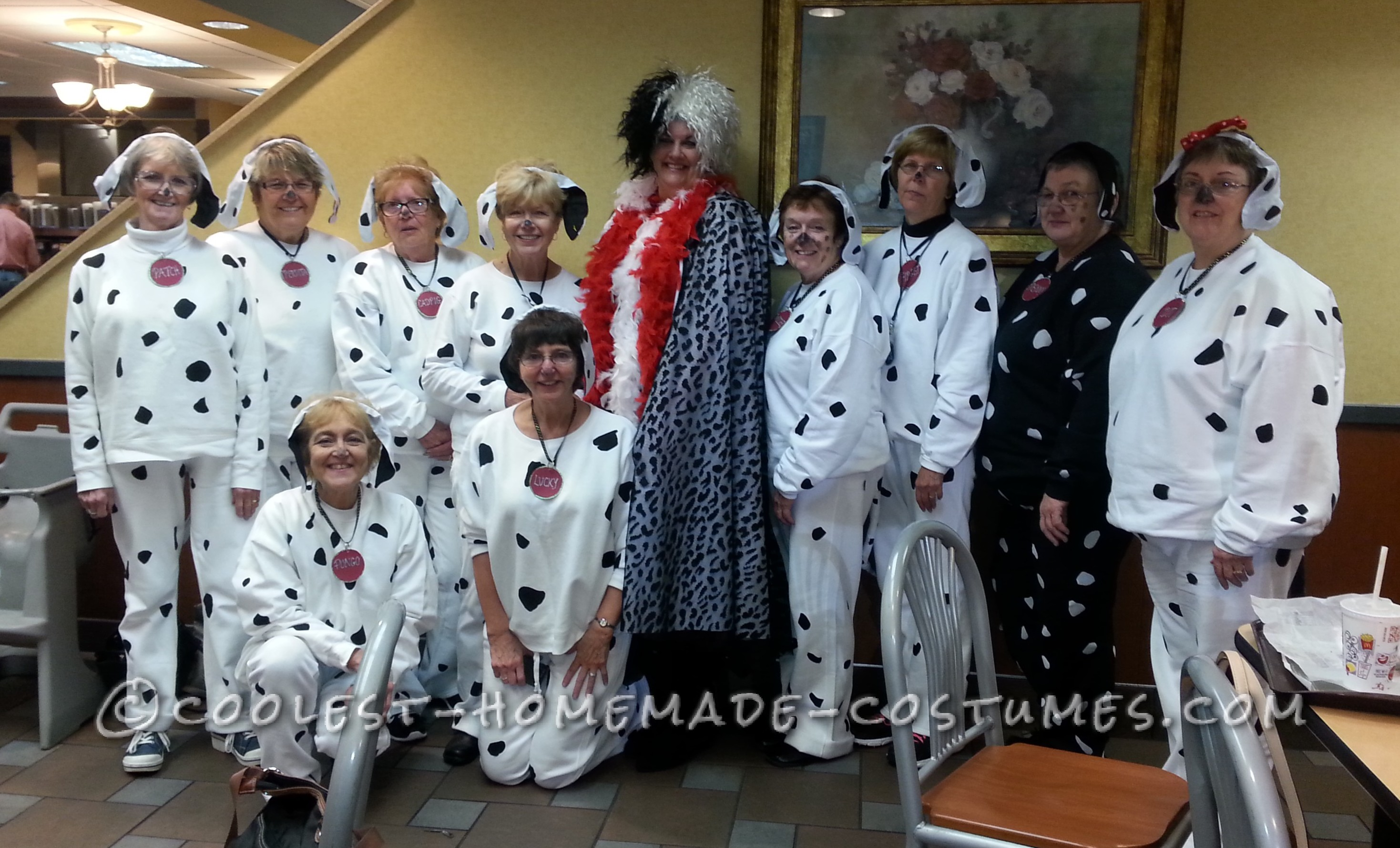 Homemade 101 Dalmation All-Girl Group Costume