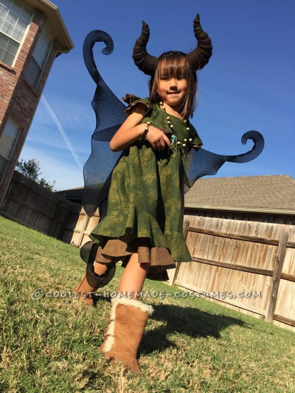 Young Homemade Maleficent Costume – Only If She Could Fly! - 1