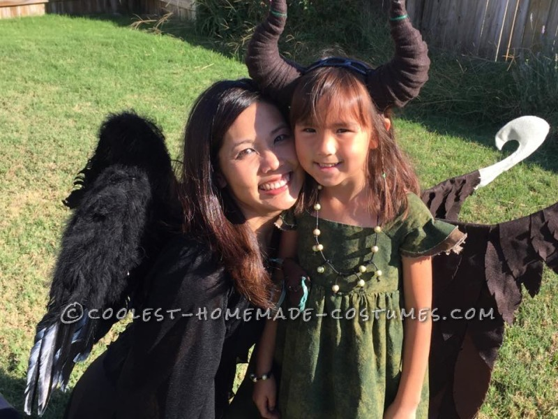 Young Homemade Maleficent Costume – Only If She Could Fly! - 5