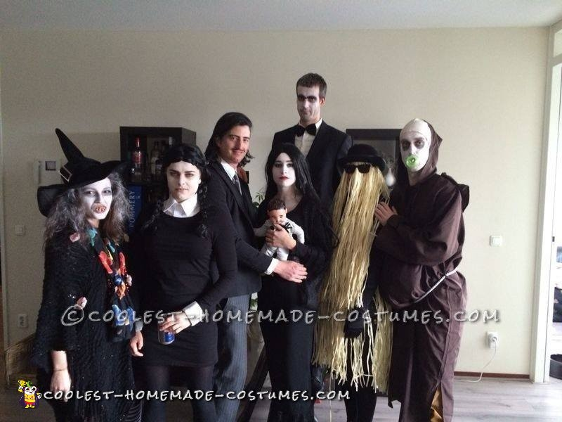 Cool Homemade Addams Family Group Costume