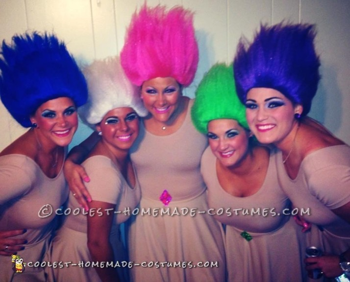 Fun Treasure Trolls Group Costume