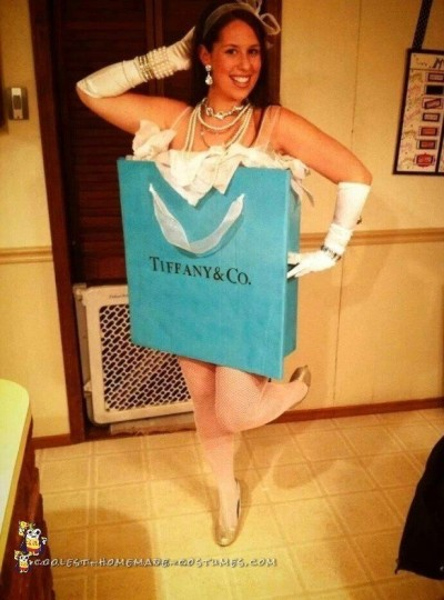 Cutest Homemade Tiffany & Co. Box Costume