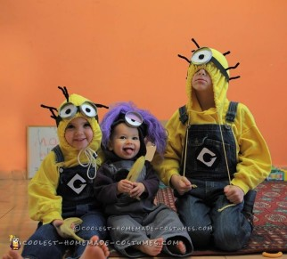 Awesome Homemade Despicable Me 2 Family Costume