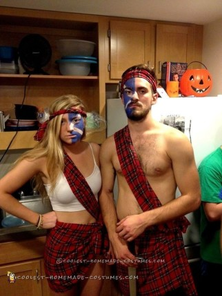 Easy Badass Braveheart Couple Costume